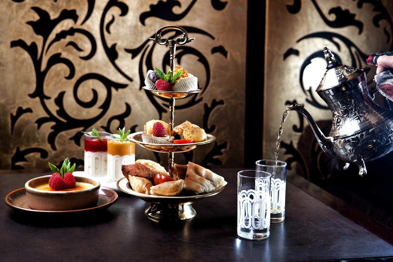 Halal afternoon tea with creme brulee